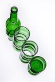 Cracked bottle Stock Photography