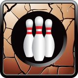 Cracked bowling button Stock Photos