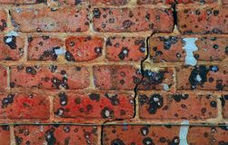 Cracked Brick Royalty Free Stock Photos