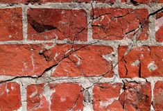 Cracked brick wall Royalty Free Stock Photography