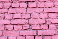 Cracked Brick Wall Stock Image