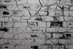 Cracked of brick wall background Stock Photography