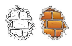 Cracked brick wall Royalty Free Stock Images