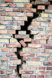 Cracked brick wall background Royalty Free Stock Images