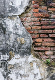 Cracked brick wall Royalty Free Stock Photos