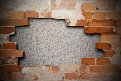 Cracked brick wall texture Royalty Free Stock Image