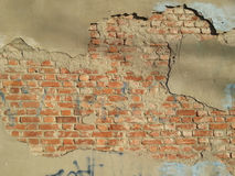 Cracked bricks wall Royalty Free Stock Photography