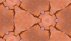 Cracked Brickwork Tile Pattern Background Texture Royalty Free Stock Photography