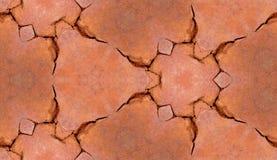 Cracked Brickwork Tile Pattern Background Texture. A seamless tile pattern background of some cracked brickwork royalty free stock photography