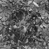 Cracked broken concrete wall. Abstract background. 3d render illustration stock illustration