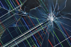 Cracked broken display  background Royalty Free Stock Images
