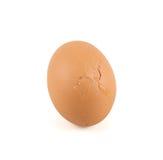 Cracked broken egg shell isolated. Over white background Stock Photography