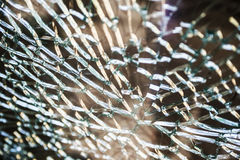 A cracked and broken glass window Royalty Free Stock Photography