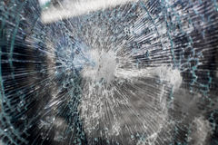 Cracked Broken Glass Stock Photography