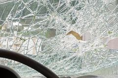 Broken windshiedld. Car accident Stock Photography