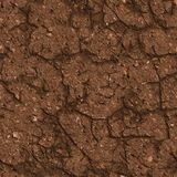 Cracked Brown Soil. Seamless Tileable Texture. Stock Photography