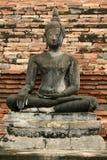Cracked buddha statue Sukhothai thailand Royalty Free Stock Image