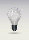 Cracked bulb, light bulb cracked. Royalty Free Stock Image