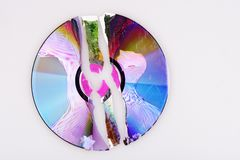 Cracked CD Stock Images