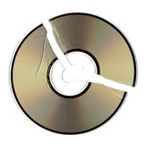 Cracked CD Stock Image
