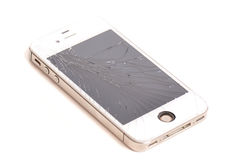 Cracked Cellphone Screen Royalty Free Stock Photos