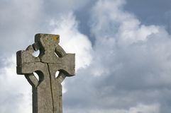 Cracked Celtic cross Stock Image