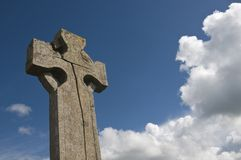 Cracked Celtic cross Royalty Free Stock Photo