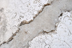 Cracked cement Royalty Free Stock Image