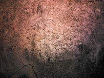 Cracked cement affected by earthquake tremors. Royalty Free Stock Image