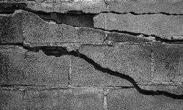 Cracked cement Stock Photos