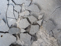 Cracked of cement concrete Royalty Free Stock Image
