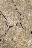 Cracked cement concrete texture closeup background. Old wall tex Stock Image