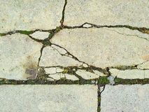 Cracked cement old background Stock Photos