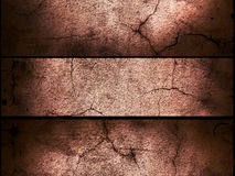 Cracked cement wall background Stock Images