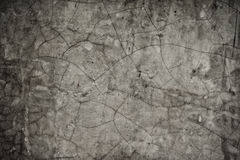 Cracked on Cement Wall Stock Images
