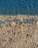 Cracked and chipped pool wall royalty free stock photos