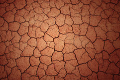 Cracked clay ground Royalty Free Stock Photos