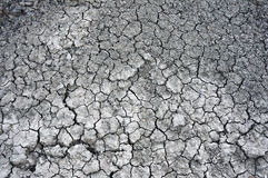 Cracked clay ground into the dry Stock Photo