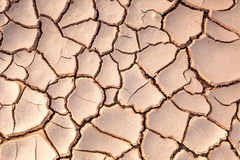 Cracked clay ground Royalty Free Stock Image