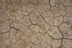 cracked clay ground at summer season Stock Image