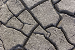 The cracked clay ground texture Stock Images