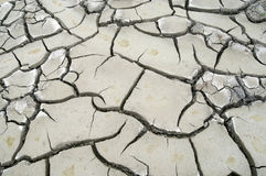 Cracked clay land Royalty Free Stock Photography