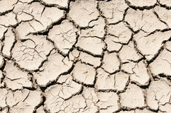 Cracked clay soil image Stock Photos