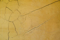 Cracked clay wall Royalty Free Stock Photo