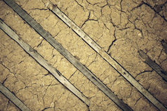 Cracked clay wall  textures background Stock Image