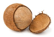 Cracked coconut Royalty Free Stock Photo