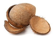 Cracked coconut Stock Images