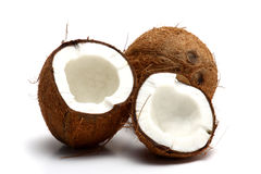Cracked coconut royalty free stock photography