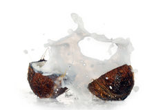 Cracked coconut Stock Photos