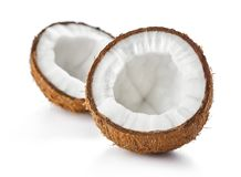Cracked coconut royalty free stock images